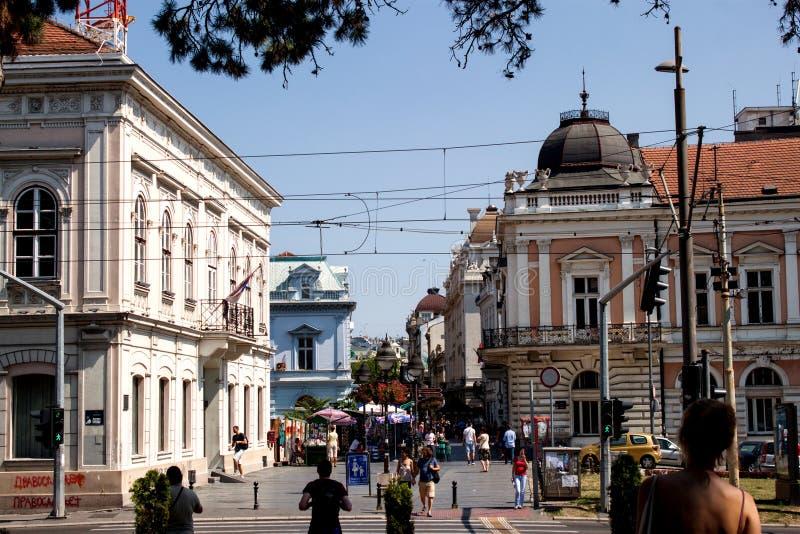 Rua de Knez Mihailova fotos de stock