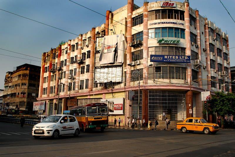 Rua de Kolkata fotografia de stock royalty free
