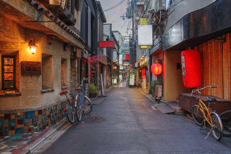 Rua de Kyoto, Japana imagem de stock royalty free