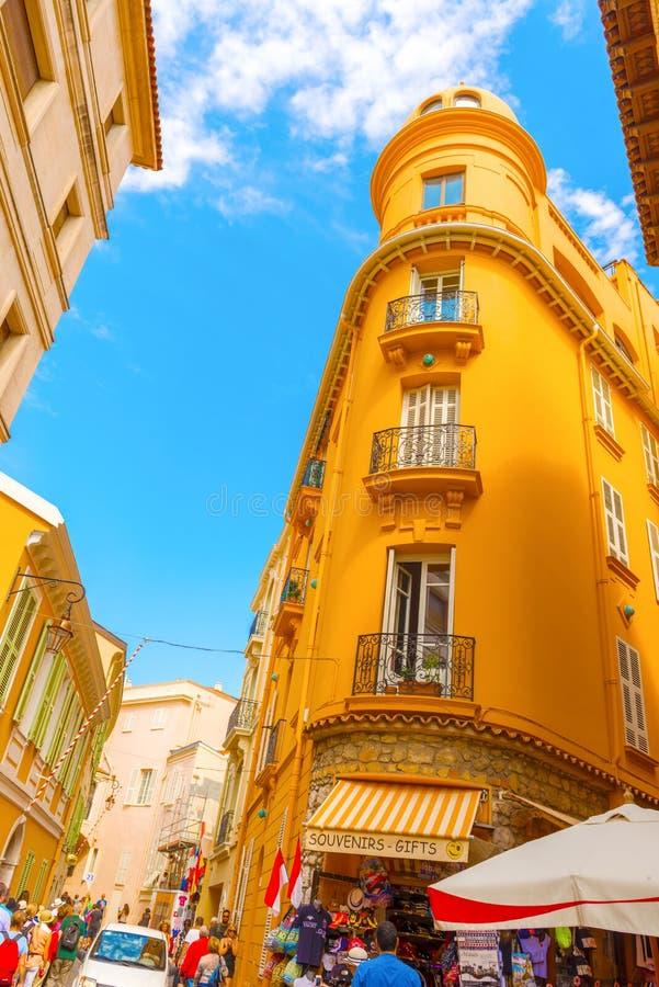 Rua de Mônaco-ville imagem de stock royalty free