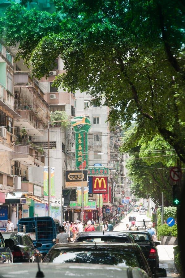 Rua de Macao fotos de stock royalty free