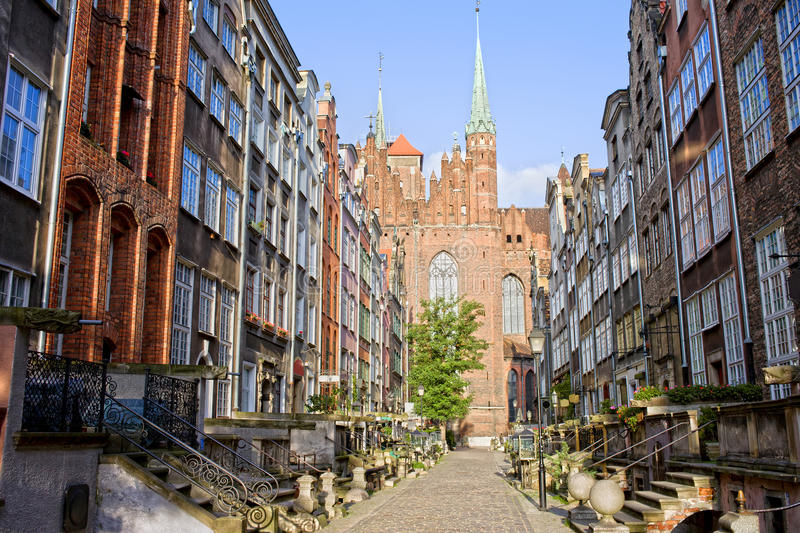Rua de Mariacka em Gdansk foto de stock royalty free