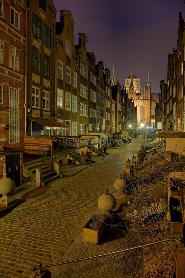 Rua de Mary em Gdansk fotos de stock