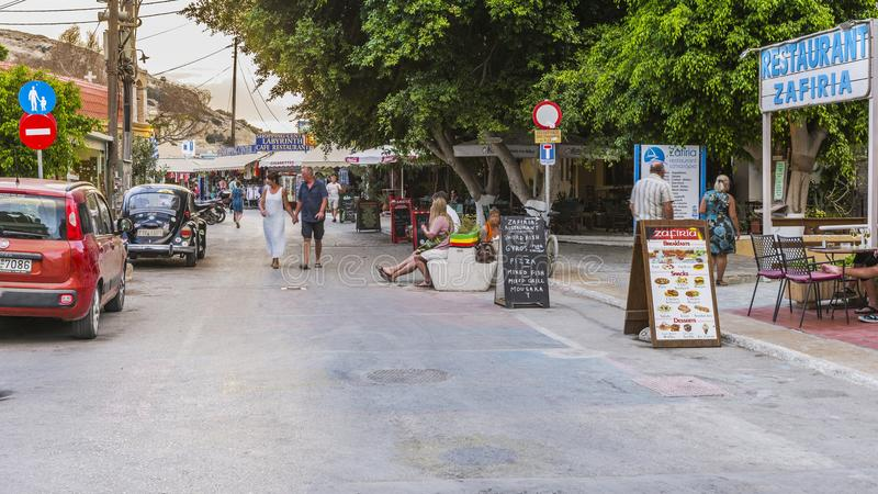 Rua de Matala imagens de stock