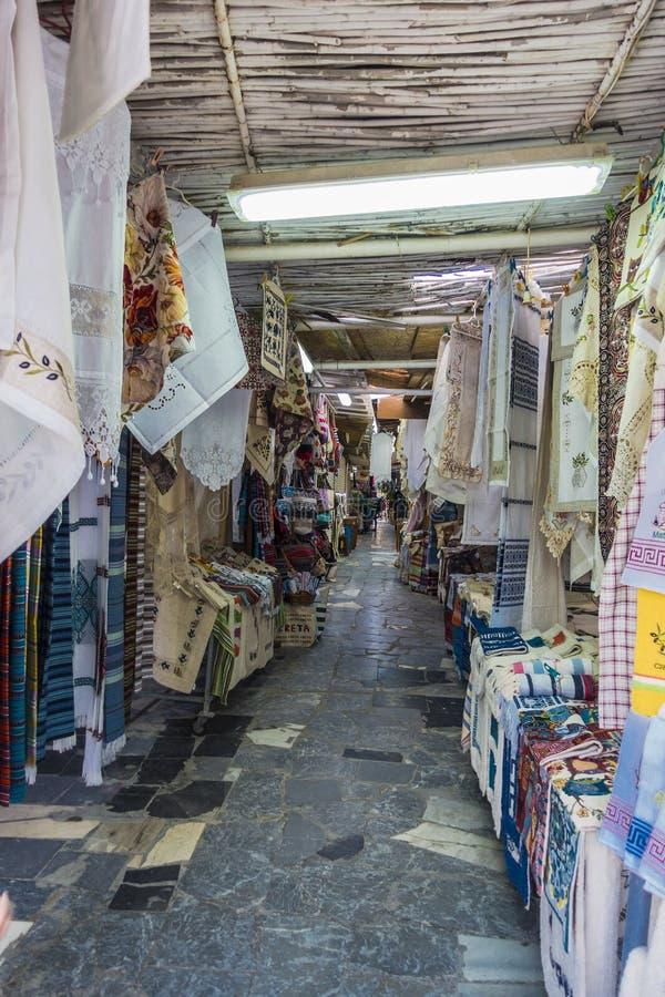 Rua de Matala foto de stock