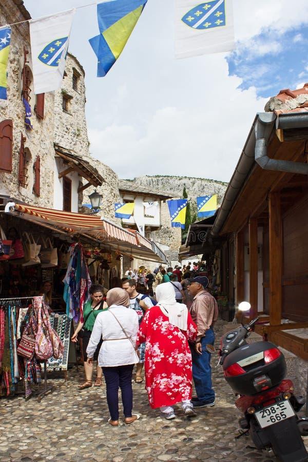 Rua de Mostar imagens de stock