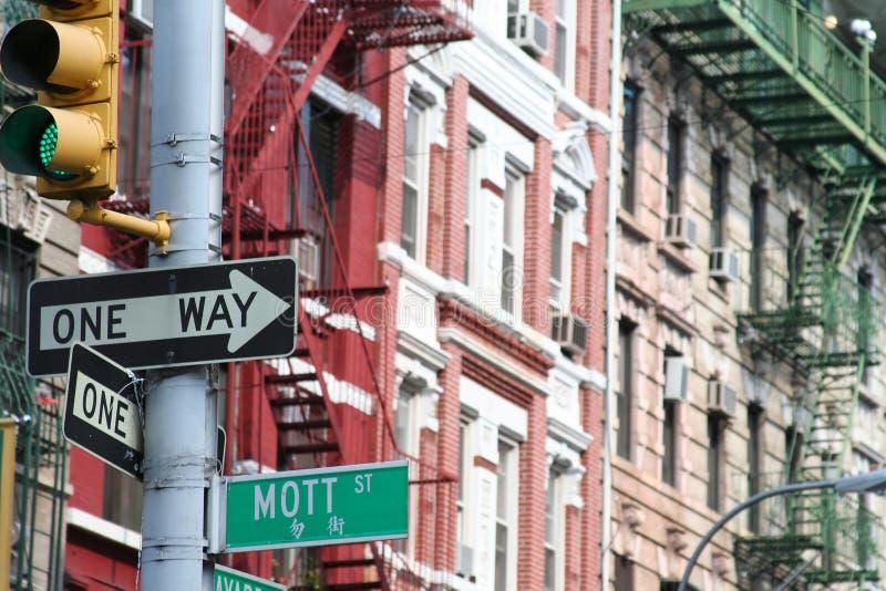 Rua de Mott, Manhattan imagem de stock royalty free