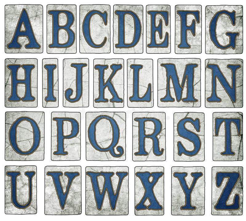 A rua de Nova Orleães telha o alfabeto de Digitas imagem de stock