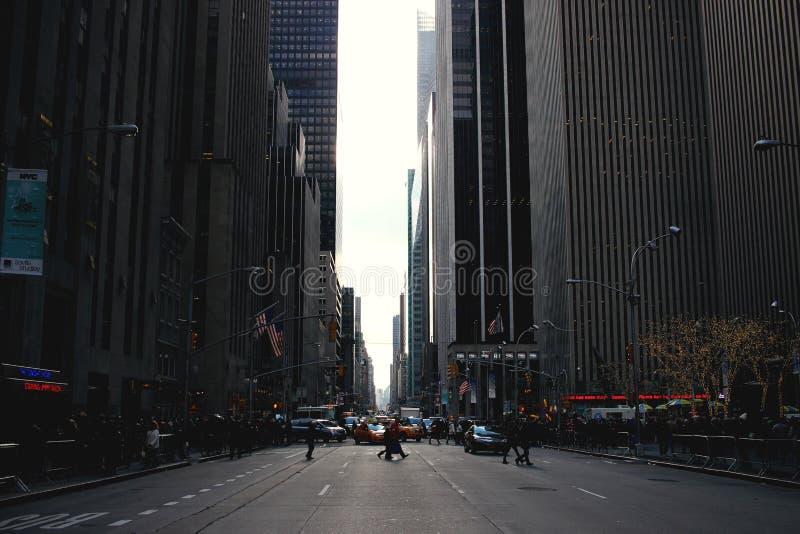 Rua de NYC imagens de stock
