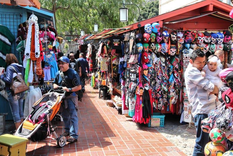 Rua de Olvera, Los Angeles imagem de stock