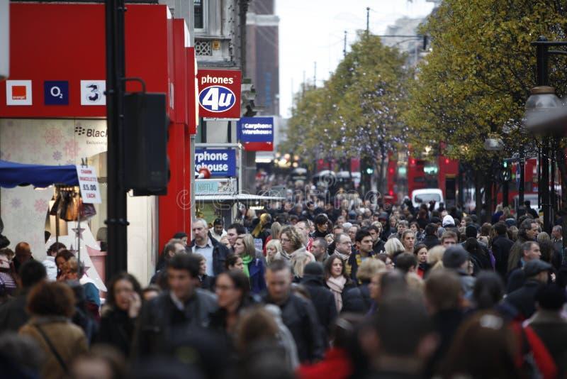 Rua de Oxford fotografia de stock