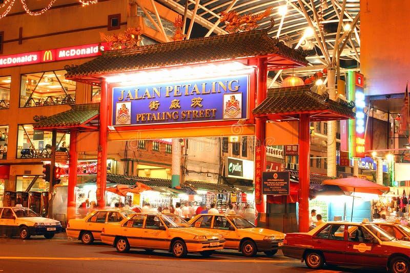 Rua de Petaling (Chinatown) Kuala Lumpur, Malaysia fotografia de stock royalty free