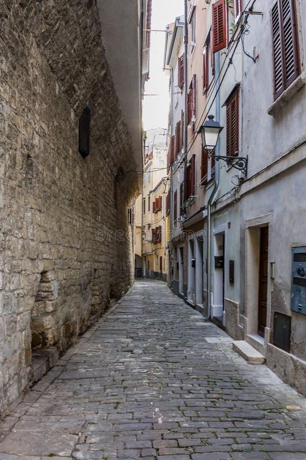 Rua de Piran imagem de stock royalty free