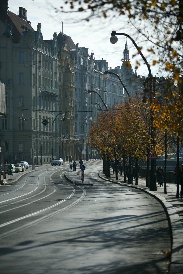 Rua de Praga, República Checa fotografia de stock royalty free