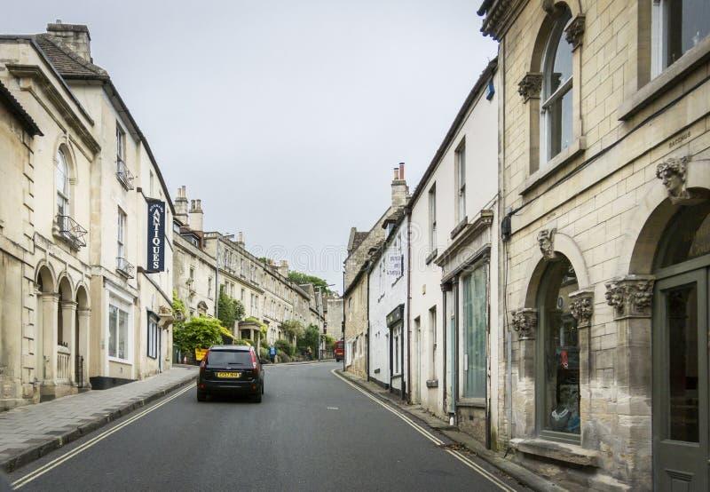 Rua de prata, Bradford On Avon, Wiltshire, Reino Unido imagens de stock royalty free