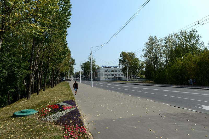 Download Rua de Pravda em Vitebsk fotografia editorial. Imagem de cityscape - 107529267