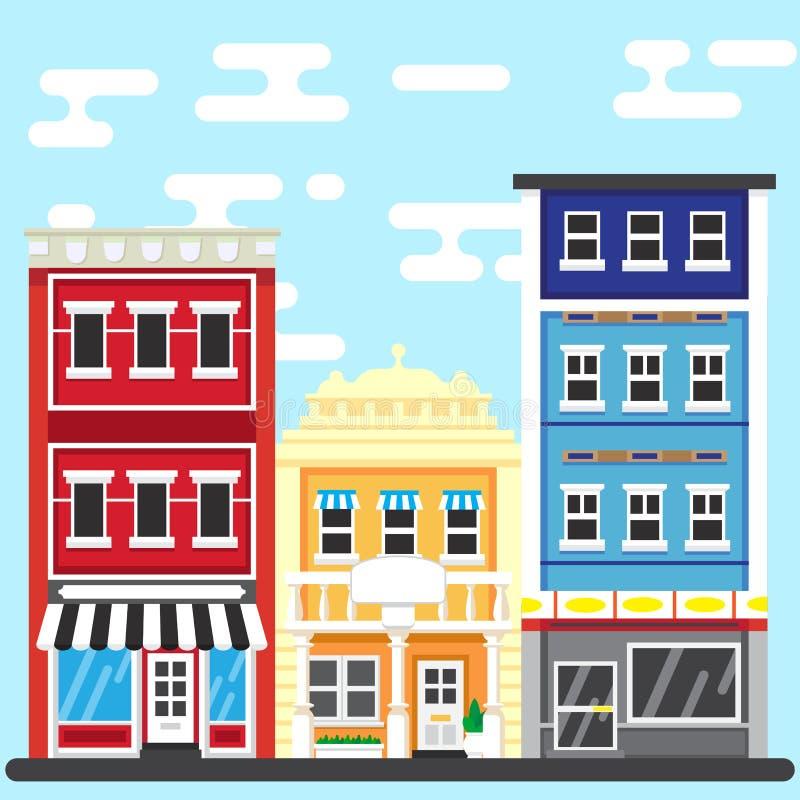 Download Rua De PrintCity Ilustração Do Vetor Da Construção Ilustração Stock - Ilustração de negócio, paisagem: 65575276