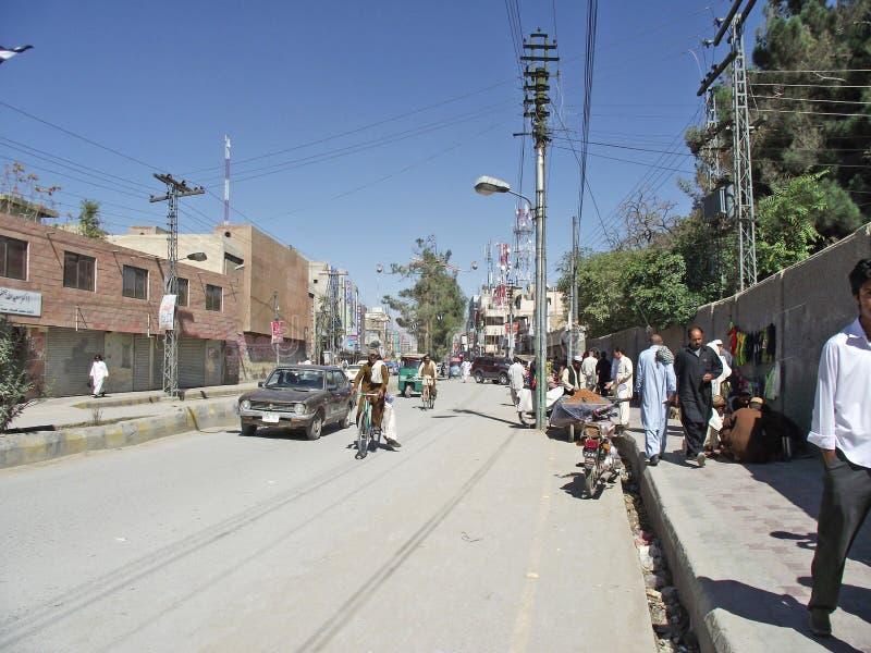 Rua de Quetta imagem de stock