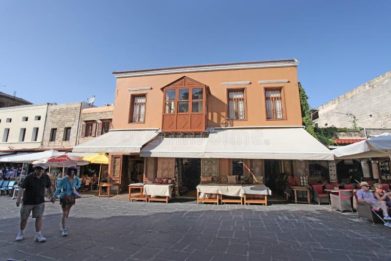 Rua de Rhodes Old Town Greece fotografia de stock royalty free