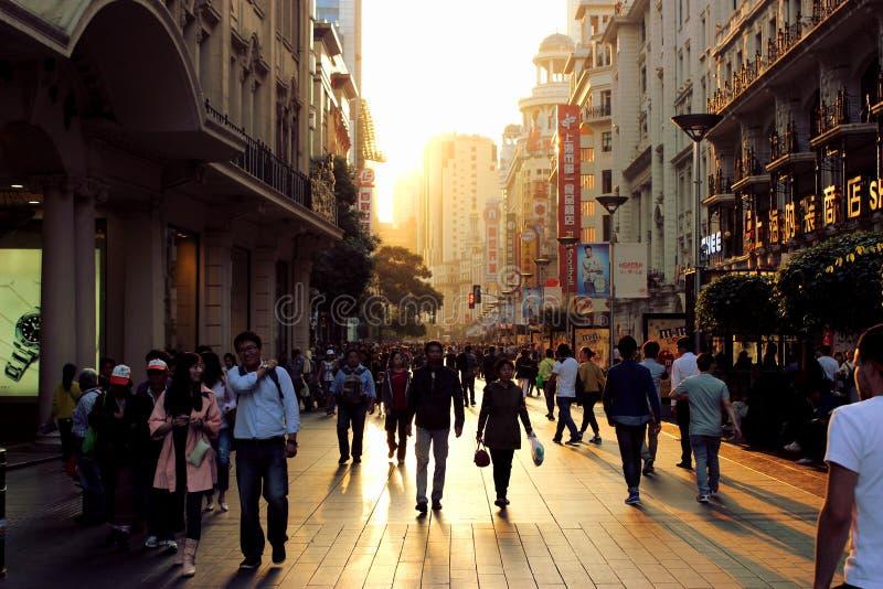 Rua de Shanghai foto de stock