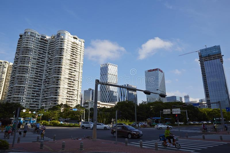 Rua de Shenzhen na manhã foto de stock