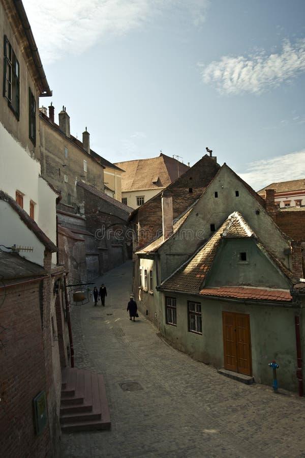Rua de Sibiu (Romania) fotografia de stock royalty free