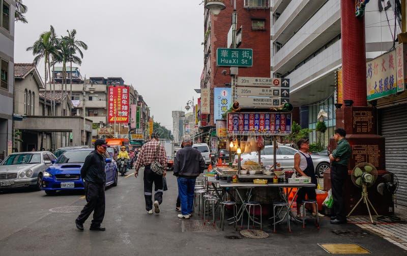 Rua de Taipei, Taiwan imagens de stock