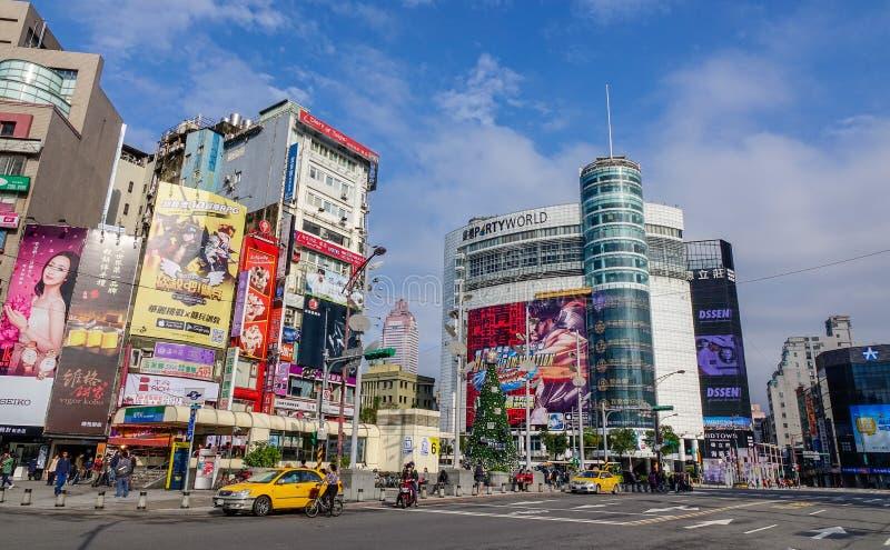 Rua de Taipei, Taiwan fotografia de stock royalty free