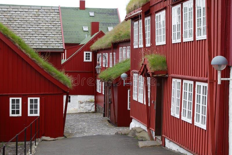 Rua de Torshaven foto de stock