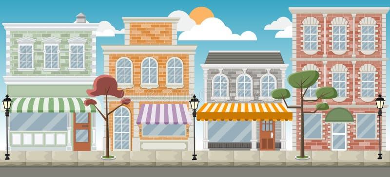 Rua de uma cidade colorida ilustração do vetor