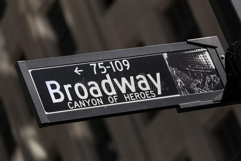 A rua de Wall Street assina dentro New York Ciy, EUA foto de stock