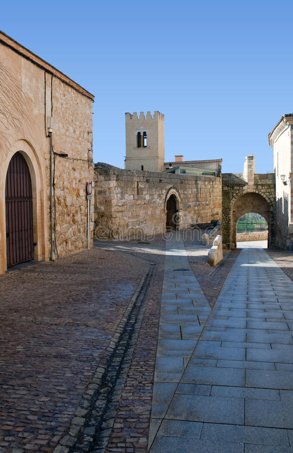 Rua de Zamora imagem de stock