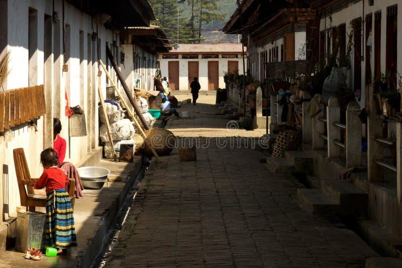 Rua deficiente no Dochuia dis foto de stock royalty free