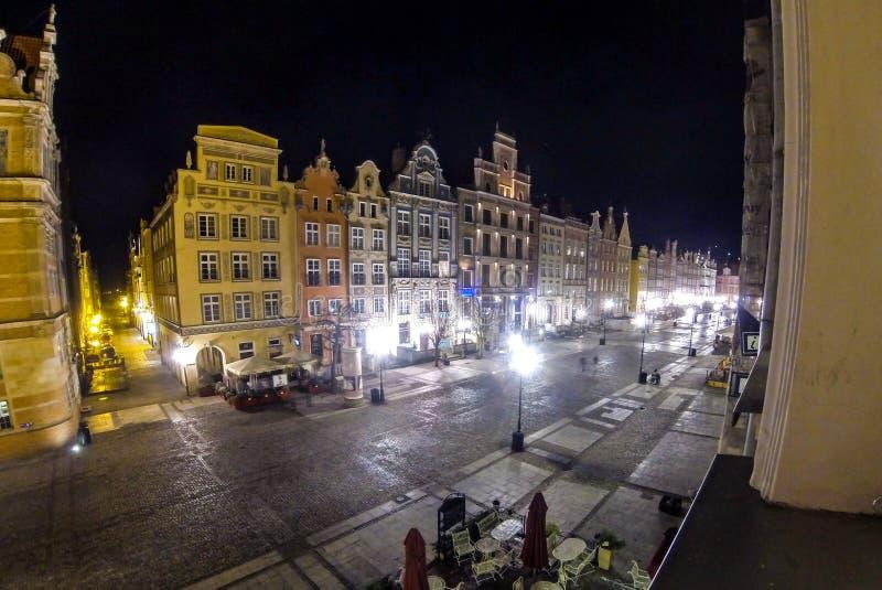 Rua Dlugi Targ do mercado longo em Gdansk, Polônia foto de stock royalty free