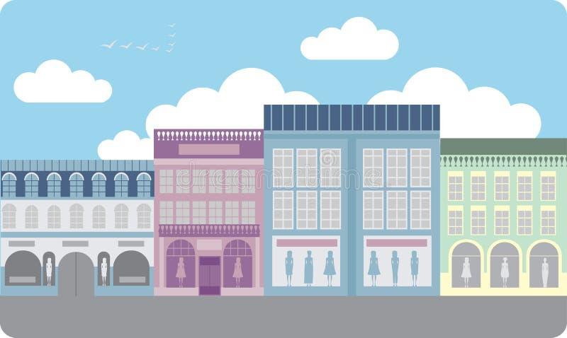 Rua do boutique ilustração royalty free