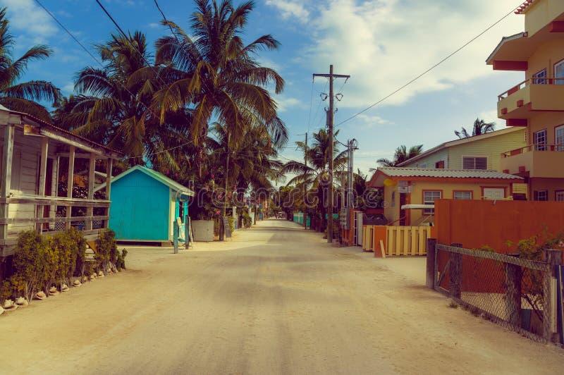 Rua do calafate de Caye fotos de stock