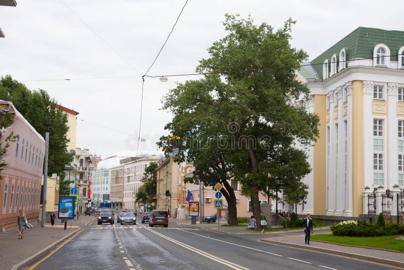 Rua 23 do centro e do Ostozhenka do canto de Opera 07 2018 foto de stock