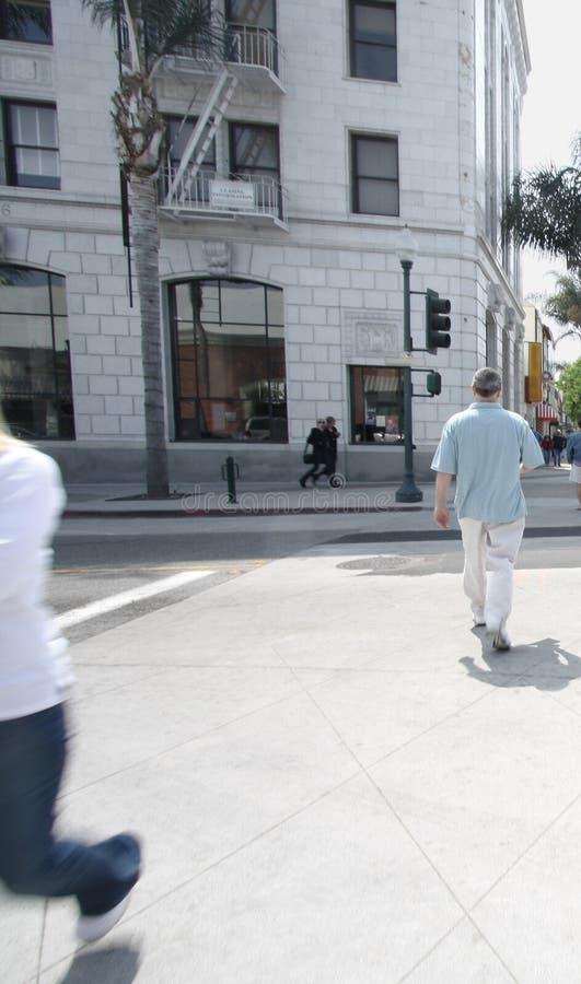 Rua do cruzamento dos povos fotos de stock royalty free