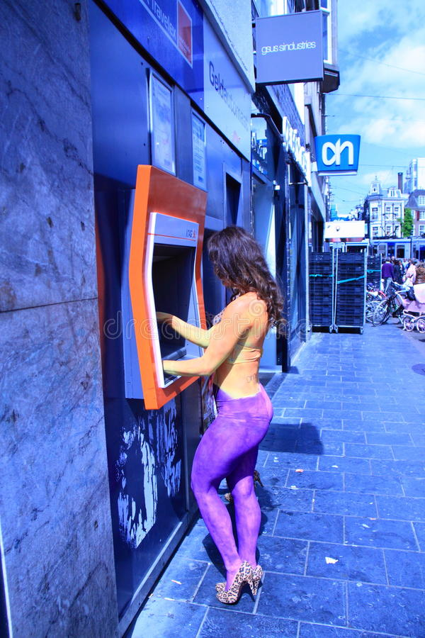 Rua do dutch do dinheiro do desenho foto de stock royalty free
