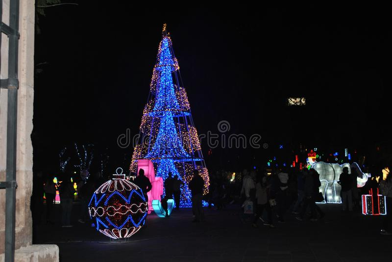 Rua do inbthe de Navidad fotos de stock