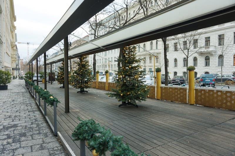 Rua do inverno de Viena imagem de stock royalty free