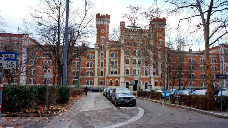 Rua do inverno de Viena imagens de stock royalty free