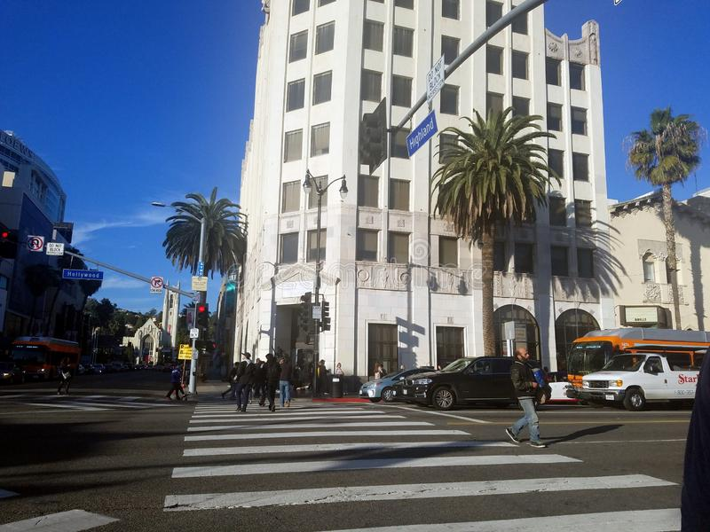 Rua do LA foto de stock royalty free