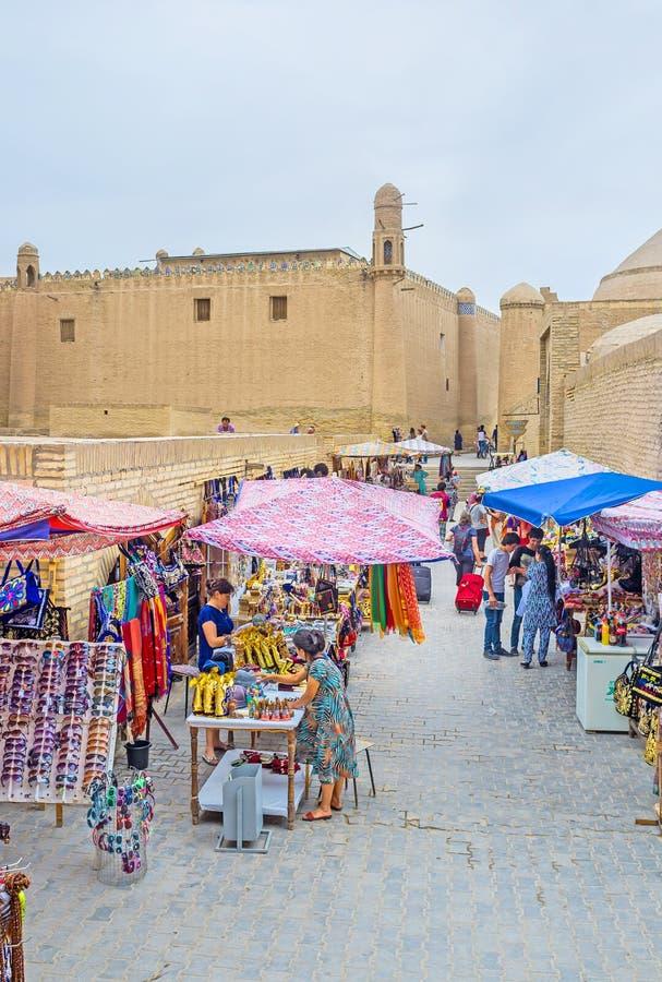 A rua do mercado fotografia de stock royalty free