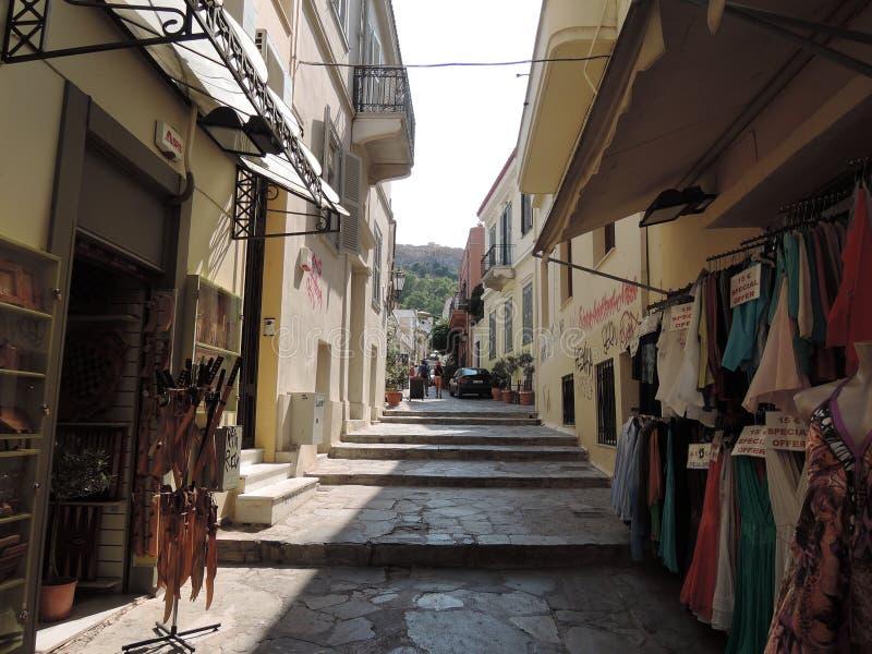 Rua do mercado de Grécia fotos de stock royalty free