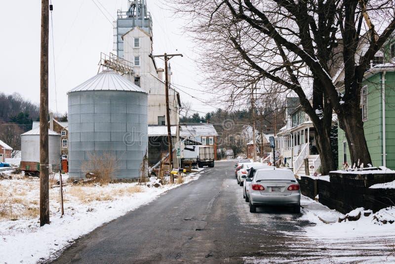Rua do moinho, em Lineboro, Maryland fotos de stock royalty free