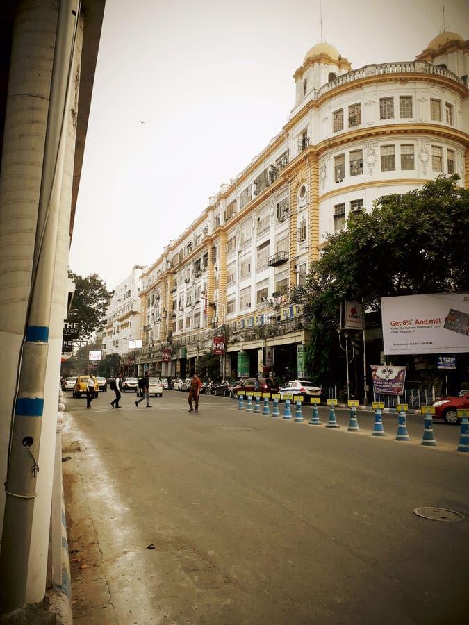 Rua do parque de Kolkata fotos de stock royalty free