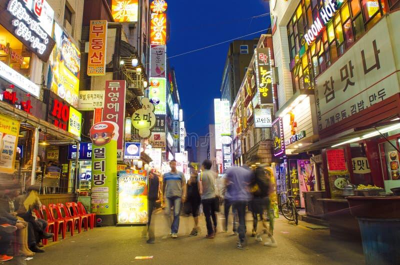 Download Rua Do Restaurante Em Seoul Central Coreia Do Sul Foto de Stock Editorial - Imagem de cidade, seoul: 29847098