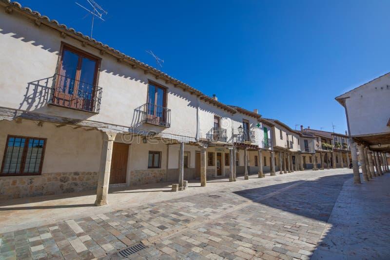 Rua do século XVII na vila de Ampudia fotos de stock royalty free