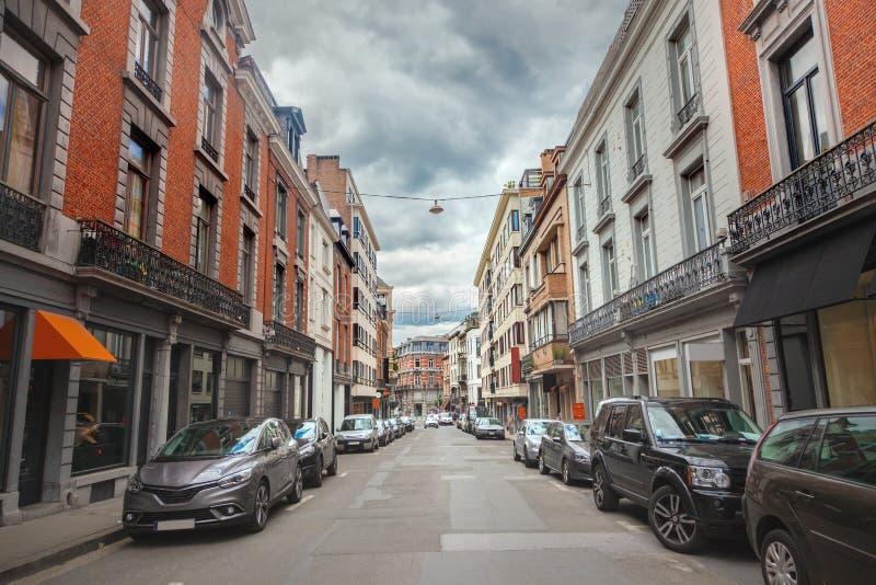 Rua do senhor, Bélgica fotografia de stock